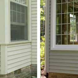 Replacement Vinyl Windows - Before & after replacement vinyl windows