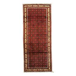 eSaleRugs - 4' 5 x 10' 9 Shiraz Persian Runner Rug - SKU: 22129428 - Hand Knotted Shiraz rug. Made of 100% Wool. 40-50 Years(Semi Antique).