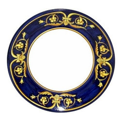 Artistica - Hand Made in Italy - PRINCIPATO: Charger Buffet Platter - Masterfully hand painted our Principato design features a refined design exclusively available in the USA only throughout Artistica!