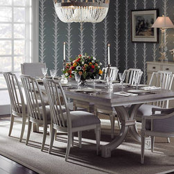 Dining Rooms | Smart Furniture - European elegance awaits at the Preserve St. Helena Trestle Dining Table.