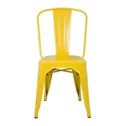 Fine Mod Imports - Talix Chair - Yellow - More than three quarters of a century later, the famous chair adopts a new look, with a curving back to make it even more comfortable. The Talix Chair can be used indoor or outdoor.