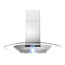 "AKDY - AKDY AG-Z9005 Euro Stainless Steel Island Mount Range Hood, 30"" - Let fresh air rule the kitchen. This AKDY 30"" island range hood features a new sleek, modern design with an easy to clean surface. It also offers 2-watt LED lighting to illuminate your cooking surface and 3-speed settings to fit your cooking preferences. Optional recirculating kits are available."