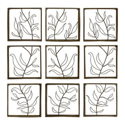 "IMAX CORPORATION - Vine Wall Decor Panels - Set of 9 - Set of Nine Complementary Iron Wall Decor Panels featuring a Cut Out Vine Pattern. Comes in various sizes measuring around 19.5""L x 14.5""W x 14.75""H each. Shop home furnishings, decor, and accessories from Posh Urban Furnishings. Beautiful, stylish furniture and decor that will brighten your home instantly. Shop modern, traditional, vintage, and world designs."