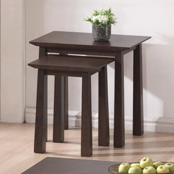 Baxton Studio - Havana Brown Wood Modern Nesting Table Set - Give your living room a contemporary edge with this dark brown nesting table set. Its sleek,clean lines and minimalist design would look great among both modern and traditional décor and its ideal for use as an end table in your living room.