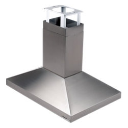 """Broan - Elite 637004 40"""" 40"""" Provisa Island Chimney Hood with 900 CFM Internal Blower  H - The 637004 40 Elite series island chimney hood is a great addition to any kitchen The 900 CFM Internal Blower will give you all the power you need Four 20-watt halogen bulbs provide bright cooktop lighting ensuring that you can see everything you are..."""