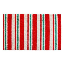 Entryways - Entryways Candy Cane Stripes 17 in. x 28 in. Non Slip Coir Door Mat P999 - Shop for Holiday Decorations at The Home Depot. This distinctive doormat from Entryways Sweet Home collection bears an original design created by an artist. This mat is crafted of all-natural coir with non-slip backing to meet the industry s highest standards. It combines an artist s touch with affordability to provide functional artistry for the home.