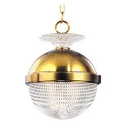 Hudson Valley Lighting - Hudson Valley Lighting 415-AGB Winfield Aged Brass Pendant - Hudson Valley Lighting 415-AGB Winfield Aged Brass Pendant
