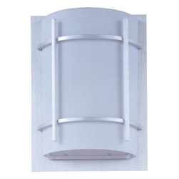 Maxim Lighting - Maxim Lighting 815WTBM Luna 1-Light Outdoor Wall Lantern in Brushed Metal - Luna EE, a contemporary Style collection from Maxim Lighting, both indoor and outdoor sconces, pendants and flush mounts available in three finishes, Brushed Metal, Natural Iron or Oil Rubbed Bronze.