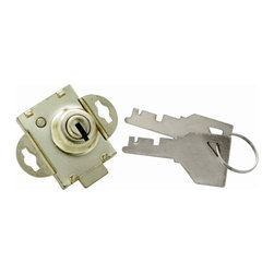First Watch Security - Mailbox Lock in Polished Brass (Set of 10) - Easy to install replacement. Versatile - Can be installed with screws or by turning wing clips. 1/4 in. Bolt. Polished Brass Finish