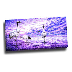 Storks - Animal Art Canvas, 32W x 16H, 1 Panel - This animal artwork is a gallery wrapped canvas piece. This design is printed in high quality fade resistant ink on premium quality cotton canvas.