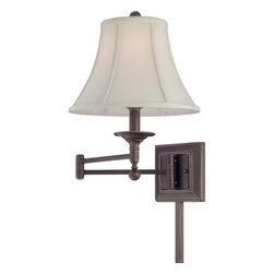 Quoizel - Quoizel Q1560 Quoizel Portable Lamp 1 Light Wall Sconce with Fabric Shade - Specifications: