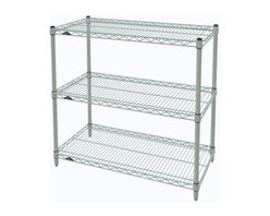 InterMetro Industries - Metro Shelving Unit - 48x14x33 - As the original wire storage shelving system and still the industry leader, Metro shelving continues to evolve and aims to meet the diversity of todays storage challenges. These professional grade units hold more weight. The three (3) shelves can be positioned, or re-positioned, at precise 1 increments along the length of the posts.  Open wire design minimizes dust accumulation and allows for free circulation of air and greater visibility of stored items. Casters (sold separately) available for mobile applications. This post-based shelving system, created in 1965, is recognized worldwide as the most popular commercial shelving system ever.  Assembly required