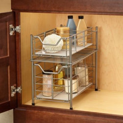 Msa Products, Inc. - Deluxe Bathroom Cabinet Drawer - A handy addition to your bathroom, this cabinet drawer has a removeable plastic base, plus dividers for organizing your stuff.