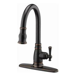 Estora - Pull-Down Kitchen Faucet Brushed Bronze - Estora 10-51111-BB Pull -Down Kitchen Faucet Brushed Bronze