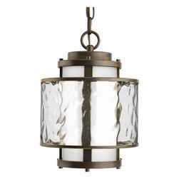 Progress Lighting - P5589-20 Bay Court Outdoor 1-Light Hanging Lantern Antique Bronze - One-light hanging lantern
