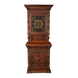 EuroLux Home - Consigned Antique Buffet 1900 Petite Mechelen Style - Product Details