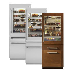 "GE Monogram - Monogram® 30"" Fully Integrated Glass-Door Refrigerator for Dual Installation - The artistry of Monogram fully integrated refrigerator models lies in the variety of options available. Solid- and glass-door refrigerators offer a choice of European or professional exterior panels, available in an 80- or 84-inch height. All fully integrated Monogram refrigerator models are equipped with a dual-refrigeration system that provides precise and customizable climate control with three independent temperature-management zones."