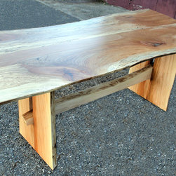 Sycamore Dining Table - Spalted Sycamore Trestle Table