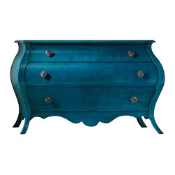 Hooker - Hooker Furniture Melange Nina Bomb Chest in Turquoise - Come closer to M&eacutelange, and you will discover something unexpected. An eclectic blending of colors, textures, and materials in a vibrant collection of one-of-a-kind artistic pieces, M&eacutelange is meant to inspire you and fuel an experience of self discovery, inspiring a renaissance in your home. Each piece of M&eacutelange has its own story. The designs are versatile and timeless, easily transcending from one life stage to the next, from home to home and generation to generation.