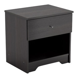 Sonax - Sonax Plateau Nightstand in Midnight Black - Sonax - Nightstands - N105LPB - Master interior design with the Plateau Nightstand in our smooth Midnight Black finish which adds a sophisticated touch to any bedroom. This nightstand is easy to assemble and comes together with quality hardware including whisper quiet Euro glide drawer slides. Bring home this contemporary nightstand proudly made in North America by Sonax.