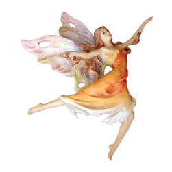TLT - 10.5 Inch Hand Painted Orange Dressed Dancing Fairy Resin Wall Plaque - This gorgeous 10.5 Inch Hand Painted Orange Dressed Dancing Fairy Resin Wall Plaque has the finest details and highest quality you will find anywhere! 10.5 Inch Hand Painted Orange Dressed Dancing Fairy Resin Wall Plaque is truly remarkable.