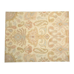 1800GetARug - Vegetable Dyes Ikat Hand Knotted Rug Sh13335 - About Wool Pile