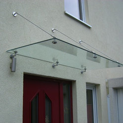 Glass canopy awning glass canopy awning system made of for Comfortvu motorized tv mount