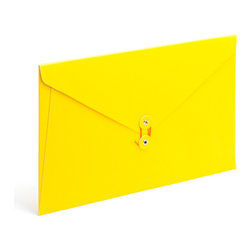 PU Envelope Folio, Yellow - Perfect for carrying your papers from here to there in style.