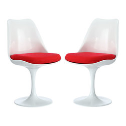 Lippa Dining Side Chair Set of 2 - The Lippa Side Chair adds the perfect modern classic touch to any dinning space. Sturdy, easy to clean and lovely to behold, these chairs elevate a meal to whole new levels of enjoyment. Available in an array of colors, the Lippa Chair makes it easy to express your individual style.