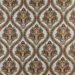 Light Blue Gold Brown Ivory Traditional Brocade Upholstery Fabric By The Yard - This beautiful traditional brocade fabric is luxury at its finest. This fabric is very durable while also providing the look of elegance to any space.