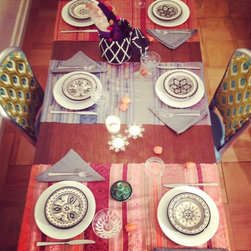 table decor ideas - THAI SILK RUNNER
