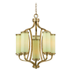 Triarch International - Triarch 38513 Il Maestro Gold Leaf 6 Light Chandelier - Triarch 38513 Il Maestro Gold Leaf 6 Light Chandelier