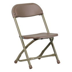 Flash Furniture - Flash Furniture Kids Brown Plastic Folding Chair - Y-KID-BN-GG - Provide kids with seating that was specifically designed for them and can be stored away when no longer in use. This plastic folding chair will make an exciting addition to any classroom, daycare center or in the home. The lightweight design makes it ideal for the child to easily transport and setup for group activities, reading and other learning groupings. [Y-KID-BN-GG]