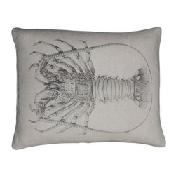 "EuroLux Home - New 16"" X 24"" Pillow Lobster Gray Fabric - Product Details"