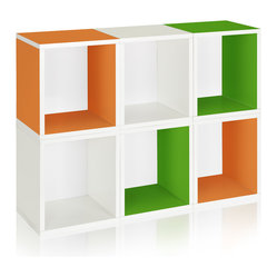 Modular Storage Cubes Plus, Green, Orange, White
