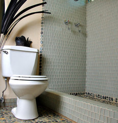eclectic bathroom tile by Island Stone
