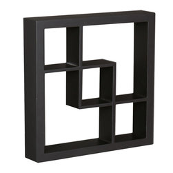 Holly & Martin - Arianna Display Shelf, Black - These elegant display cubes are a perfect solution for all your decor needs! This cube display shelf will provide an easy way to update any wall, whether in a traditional or contemporary setting. A cool and contemporary way to show off souvenirs, small treasures or art, this wall cube creates a dynamic arrangement in a living or dining room.
