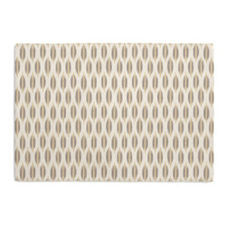 Gray & Yellow Ikat Dot Custom Placemat Set - Is your table looking sad and lonely? Give it a boost with at set of Simple Placemats. Customizable in hundreds of fabrics, you're sure to find the perfect set for daily dining or that fancy shindig. We love it in this ikat dot in gray & gold on the softest white cotton sateen. as cute as it is contemporary.