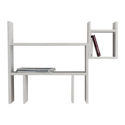 Decortie - Dogie Wall Shelf / Bookcase, White - Stylish, contemporary and unusual, this fabulous Dogie Bookcase is perfect for a modern interior that needs a pop of color. This practical bookcase is not restricted by floor space and gives you a quirky place to display your books, literature, art and decorative pieces. Finished in white. and red.
