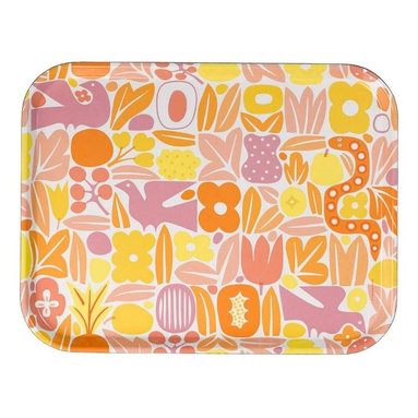 Vitra - Classic Trays, Eden - Tray chic! Based on a design first made popular in the middle of the 20th century, this dishwasher-safe tray features funky shapes and wild colors that will brighten your table, desk or day. Use it to gather your bar items or desk accessories, or simply prop it on the back of a shelf for a jolt of color and whimsy.
