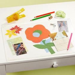 I Can See Clearly Now Desk Mat - Protect the desk with a clear acrylic desk mat, and display the kids' art underneath.