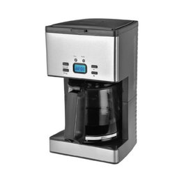 Kalorik - Kalorik Programmable 12 Cup Stainless Steel Coffee Maker - Start your morning off on the right foot with the luxurious Kalorik stainless steel coffee maker. This unit features an elegant LCD display that stays lit during the entire brewing process. The unit comes with a tempered glass carafe for its exceptionally high brewing temperature. Not only does this unit make 12 cups of coffee, it also has an oversized showerhead and contains an anti-drip function. Other highlights include a 2-hour auto shut-off and a keep warm function. This modern coffee maker includes an+easy to remove washable filter and filter holder for your convenience.