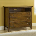 Modus Furniture Paragon Two Drawer Media Chest in Truffle