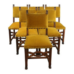 EuroLux Home - 6 Consigned Antique Dining Chairs 1900 French - Product Details