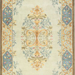 """Maison MA-26 Slate Rug - 3'6""""x5'6"""" - The Maison Collection is hand tufted designs that are inspired by the beautiful lost arts of the 18th and 19th centuries, stone and plaster ornamentations, hand painted friezes and baroque ceiling. Exquisitely detailed designs, and a velvety, luxurious pile."""