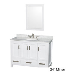 Sheffield 3-hole Faucet White Wood 48-inch Single Vanity -