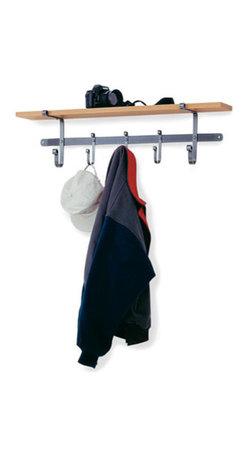 "Enclume - Shelf Coat Rack Hammered Steel - Dimensions: 36""W x 10""H x 7""D"