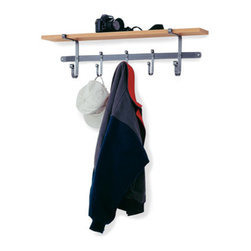 "Enclume - Shelf Coat Rack Hammered Steel - Dimensions: 36""W x 10""H x 7""D"