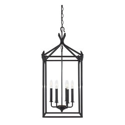 World Imports - Hastings 6-Light Hanging Pendant, Rust - Rust finish