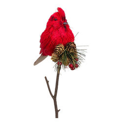 Silk Plants Direct - Silk Plants Direct Pine Cone, Cardinal and Pine Pick (Pack of 6) - Pack of 6. Silk Plants Direct specializes in manufacturing, design and supply of the most life-like, premium quality artificial plants, trees, flowers, arrangements, topiaries and containers for home, office and commercial use. Our Pine Cone, Cardinal and Pine Pick includes the following: